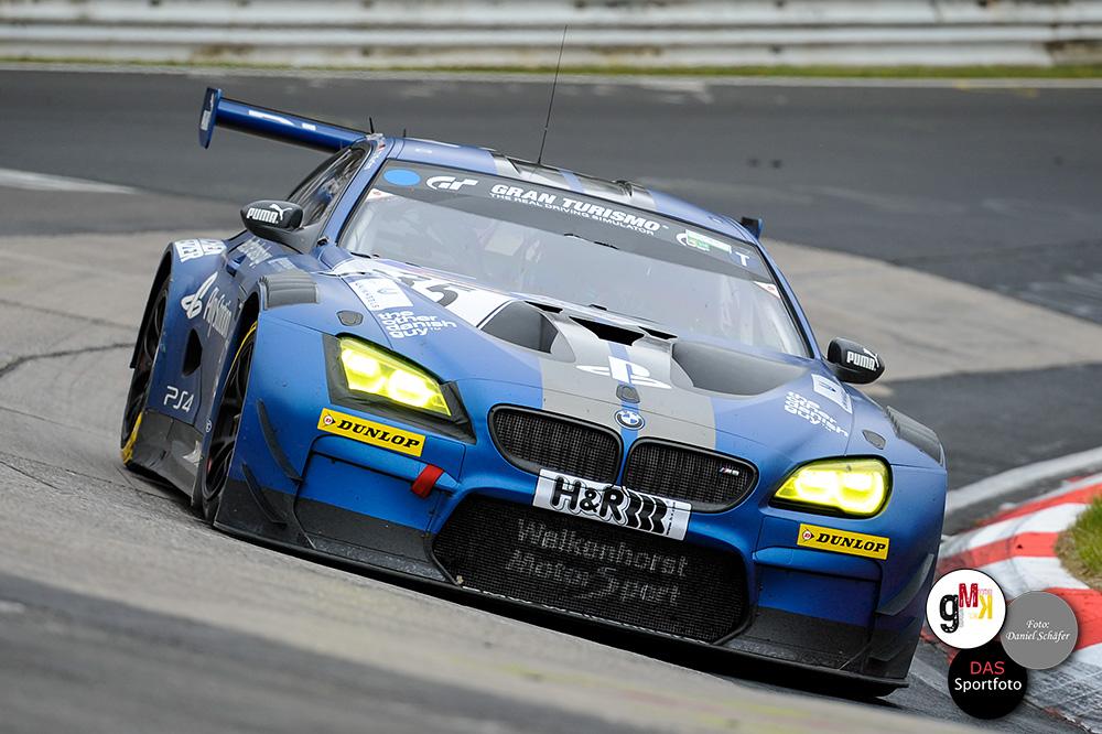Auf den Plätzen zwei und drei beendeten die beiden BMW M6 GT3 von Walkenhorst Motorsport powered by Dunlop das Rennen. Foto: D.Schäfer