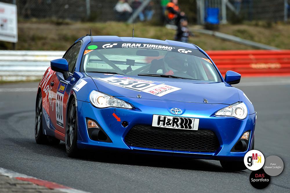 Hart umkämpft war die Entscheidung im TMG GT86 Cup: Nils Jung und Florian Wolf setzten sich mit nur 0,117 Sekunden Vorsprung gegen Manuel Amweg und Thomas Lampert vom Toyota Swiss Racing Team durch. Foto: D.Schäfer