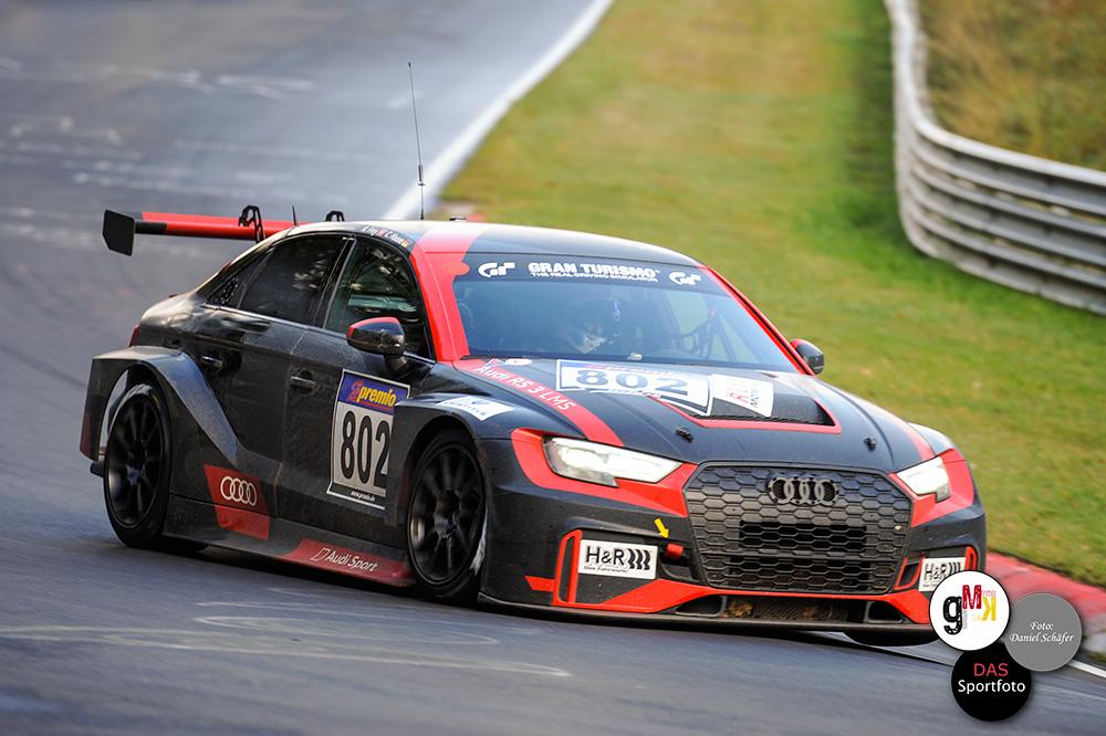 Der neue Audi RS 3 LMS hat bei seinem ersten Renneinsatz einen starken Eindruck hinterlassen. Foto: Daniel Schäfer